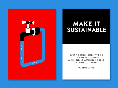 Make it Sustainable impossible creativity technique color design sustainable cards creativity quote inspiration