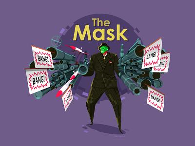Stanley Ipkiss bang illustration vector jim carrey mask the mask movie