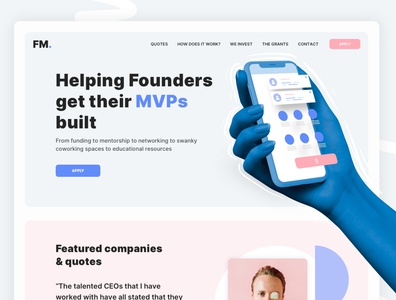 Online Incubator uiux design web design website interface landing quotes pitch idea investment inventory finance application app bold type ui colors startup incubator
