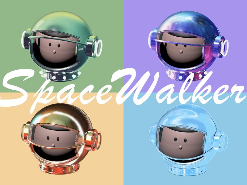 SpaceWalker ui 插图 c4d