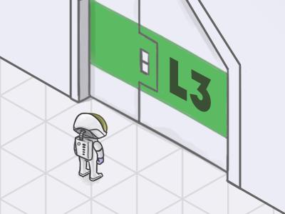 Level 3 space scifi astronaut spaceship