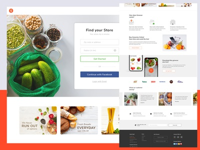Growcer Home Page Design