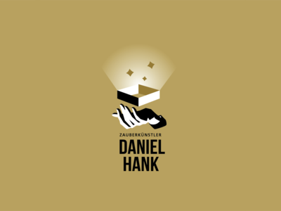 Logo redesign concept for illusionist Daniel Hank