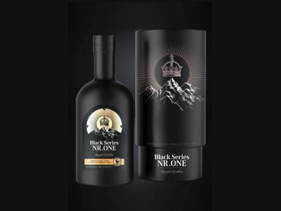 Black Series Schwarzwald Brandy Label / Packaging