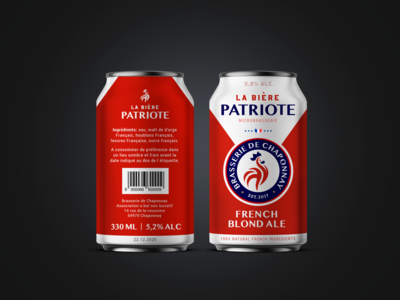 """Craft beer """"Partriote"""" packaging for french manufacturer"""