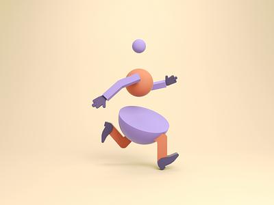 Run, Golem, Run! bouncy golem rubberhose octane run cycle walkcycle runcycle abstract shapes runner animation gif loop after effects cinema 4d cinema4d 3d