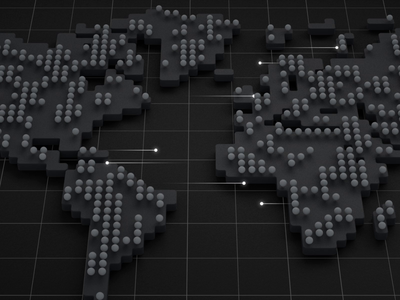 Data Transfer particles particle data visualization computation grid transfer data map world after effects octane cinema 4d cinema4d 3d loop animation