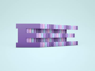 Letter E slide textures letter e c4d simple minimal octane cinema 4d cinema4d gif loop animation 36daysoftype07 36daysoftype