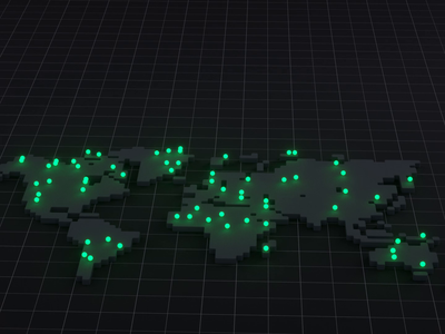 Zoom in world map 3d map map c4d minimal simple octane cinema 4d cinema4d 3d animation