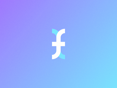 f Logo Mark Animation animation loop simple logo design branding logodesign curly brackets gradient data loader brackets dynamic letter f logo letter f letter animation after effects curly bracket mark f mark