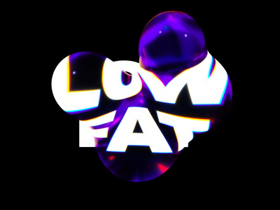 Low Fat metaball orb liquid cinema 4d spin rotate octanerender octane type kinetic type kinetictype kinetic abstract 3d animation refraction typography cinema4d 3d animation