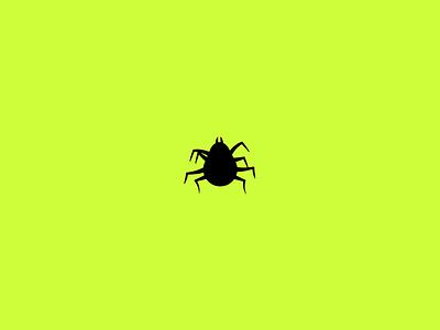 Funky bugs pattern tick bug flat minimal simple illustration loop gif animation