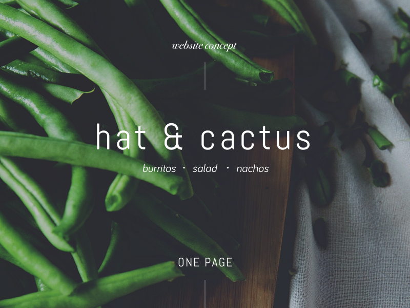 Hat & Cactus salads spanish green onepage website food healthy