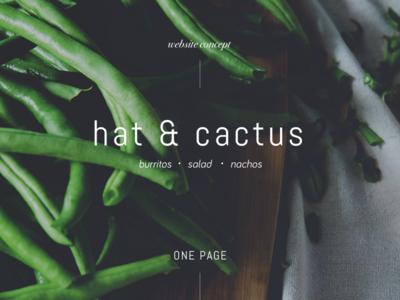 Hat & Cactus salads spanish green onepage website food healthy
