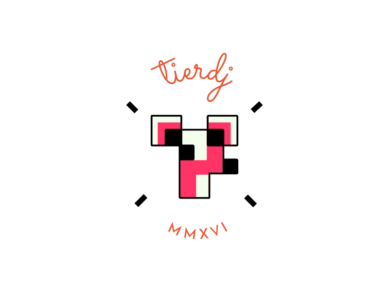 Tierdj MMXVI illustration branding naïve type tiny cute deer geometry logo