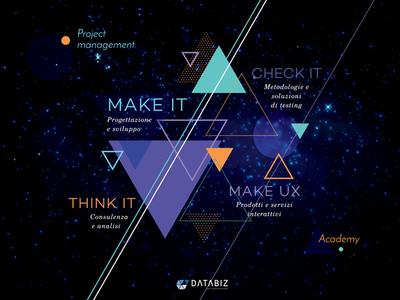 Databiz Poster layout illustration print poster geometry