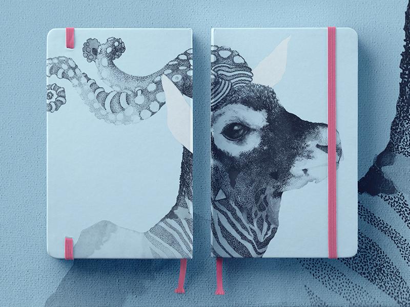 OctoBuck Antilope print canvas paper diary octopus ink illustration stationery notebooks antilope buck