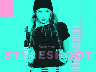 Glitch / StyleShoots typography website landing inspiration fashion color