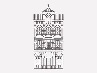 BierBoutique vector minimal illustration icon geometry flatdesign building artwork architecture