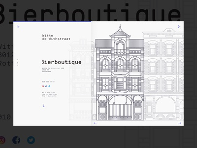 Rotterdam City Guide illustration website web ux ui minimal layout graphic clean