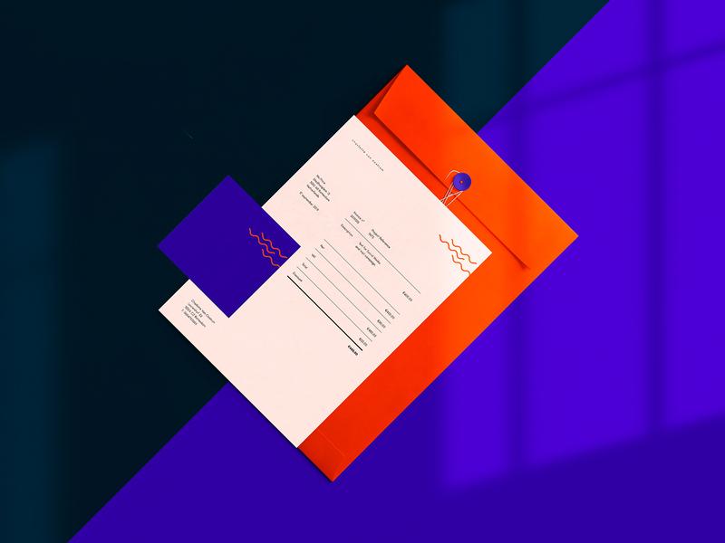 Brand identity for Charlotte van Oostrum card design invoice minimal design logo branding identity vector print illustration typography