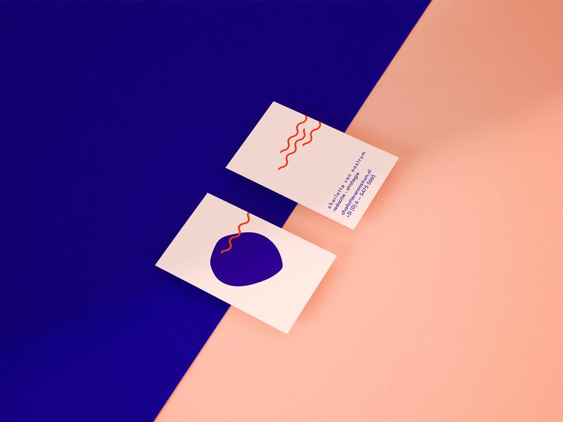 Brand identity for Charlotte van Oostrum business card minimal identity branding vector print illustration typography