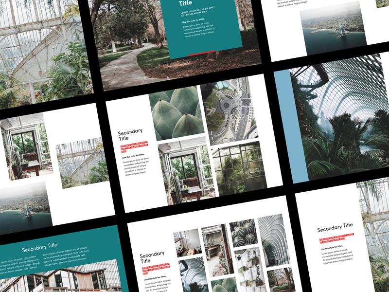 Juurlink [+] Geluk Presentation landscape design keynote template keynote design powerpoint design powerpoint presentation template presentation design