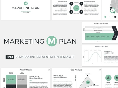 Marketing Plan Presentation Template premium office management tool management corporate company project pitch design keynote powerpoint proposal service template report plan marketing business