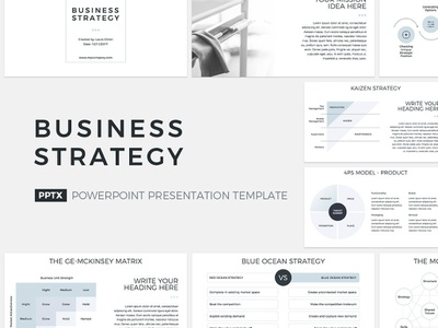 Business Strategy Presentation Template pitch premium office management tool management corporate company template service report proposal powerpoint marketing keynote design strategic design strategies strategic strategy business