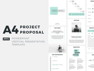 A4 Project Proposal Presentation Template profile plan corporate company pitchdeck office management tool design report service template business marketing keynote powerpoint print proposal project a4 size a4