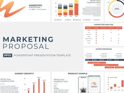 Marketing Proposal Presentation Template premium profile strategic presentation plan pitch project management office corporate company template service report powerpoint keynote design business proposal marketing
