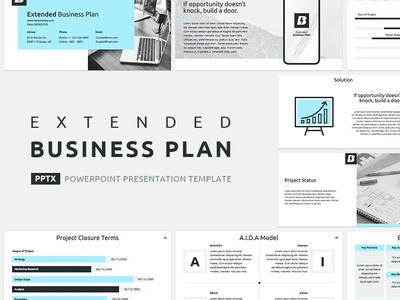Extended Business Plan Presentation Template management tool strategy pitchdeck presentation pitch office project management corporate company template report service design keynote proposal powerpoint marketing plan business