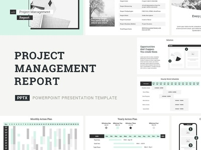 Project Management Report Presentation Template strategy strategic profile plan office management tool management corporate company service proposal design business marketing template presentation keynote powerpoint report project
