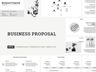 Business Proposal Presentation Template agency strategy presentation plan pitch management tool office project management corporate company template design service report marketing keynote powerpoint proposal business