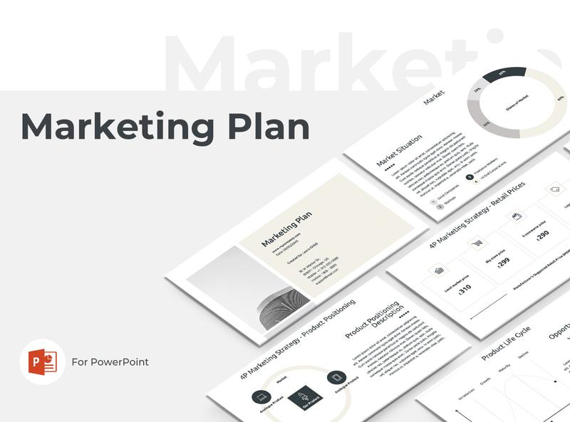Marketing Plan Presentation Template slides presentation elements theme corporate company service template design report powerpoint keynote startup proposal project business plan marketing