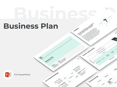 Business Plan Presentation Template slides elements strategy project plan office company template service report proposal powerpoint marketing keynote design business