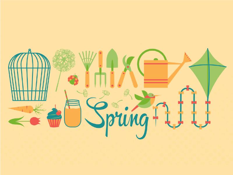 Spring Wallpaper floral artwork wallpaper design seasonal season fresh gardening spring digital illustration illustration wallpaper