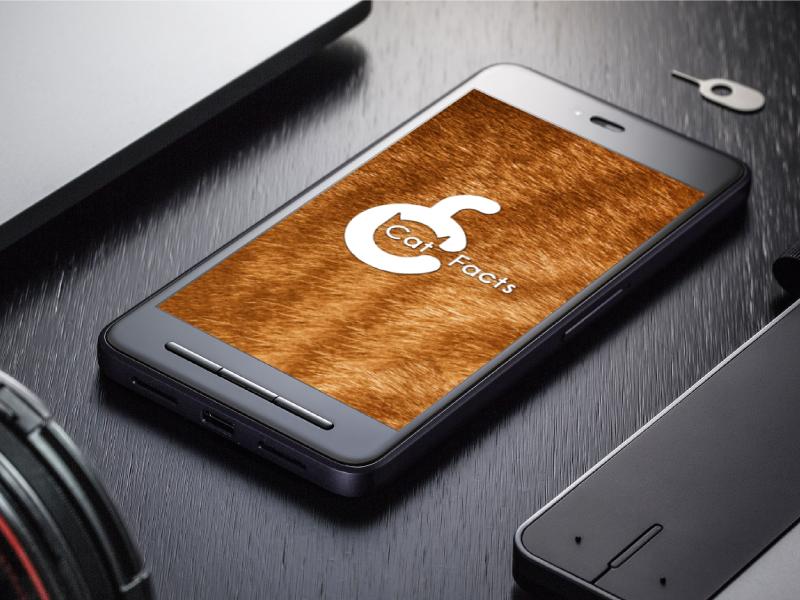 Cat Facts app logo mobile app mobile app logo fluffy fur app prototype facts cat branding app app branding logo
