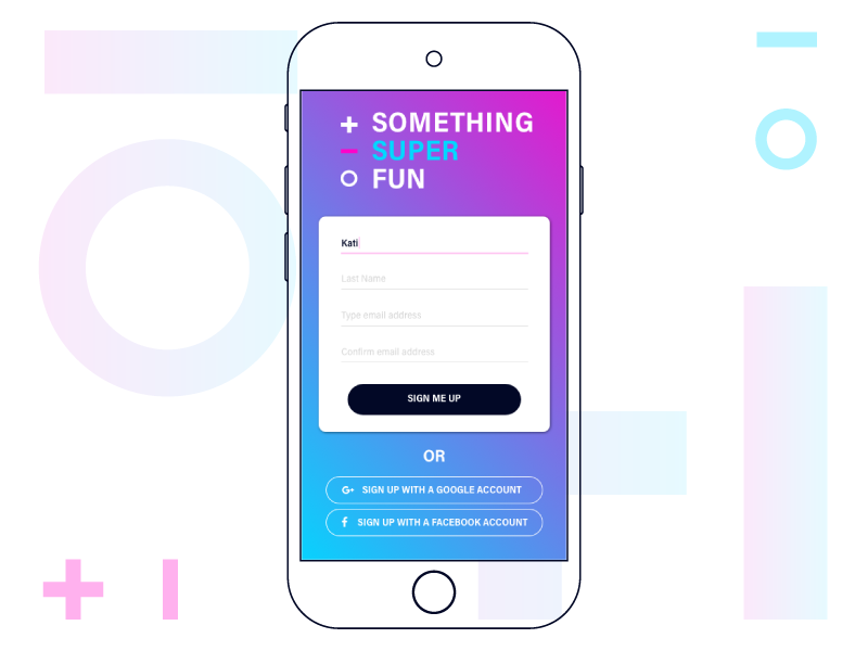 Daily UI Challenge 001 - Sign Up user interface design user interface 001 daily challange daily ui challange sign up screen sign me up mobile ui sign up page sign up form sign up daily ui daily ui 001 dailyui dailyui 001