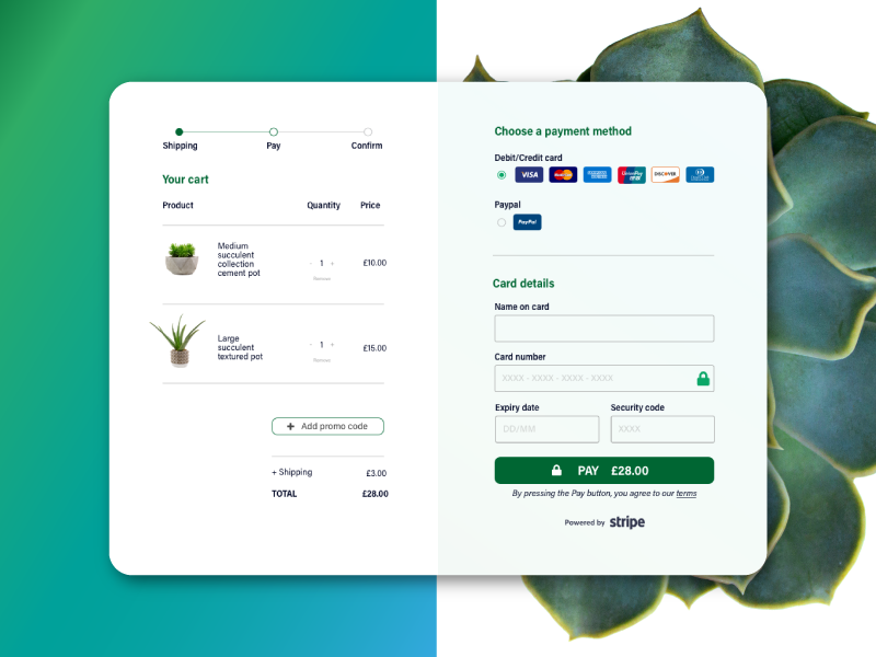 Daily UI Challenge 002 - Credit Card Checkout user interface credit card payment credit card checkout credit card checkout process process checkout page pay payment gateway credit card form checkout desktop tablet daily ui challenge dailyui 002 daily ui 002 daily ui dailyui daily challenge 002