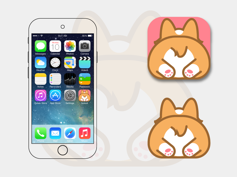 Daily UI Challenge 005 - App Icon character cute butt dog app dog icon app icon app corgi butt corgi dailyui005 daily ui 005 daily ui dailyui daily ui challenge app icon 005 app icon 005