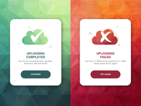 Daily UI Challenge 011 - Flash Message (error/success)