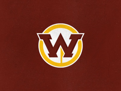 Washington Warriors native american spear sports monogram w hogs redtails warriors logo rebrand football nfl skins dc redskins washington