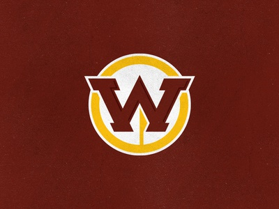 Washington Redskins native american spear sports monogram w hogs redtails warriors logo rebrand football nfl skins dc redskins washington