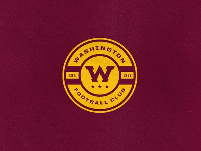 Washington FC roundel badge w football team stars washington warriors sports football club skins redtails redskins rebrand nfl native american monogram logo hogs football dc