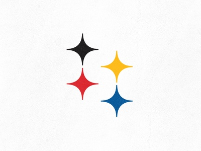 Pittsburgh Steelers negative space city steel stars letter s sports team logo monogram american rebrand pittsburgh steelers nfl football yellow black classic historic