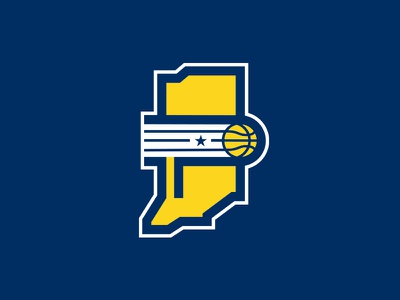 Indiana Pacers pacers branding sports indianapolis state monogram p logo basketball rebrand nba indiana