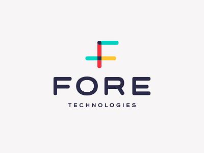 Fore Technologies rounded four technologies analytics tech fore technology data font wordmark san serif identity branding type tyepface 4 f monogram app mobile