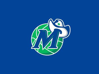 Dallas Mavericks monogram basketball nba logo maverick cowboy rebrand dallas sports branding stars mavs mavericks