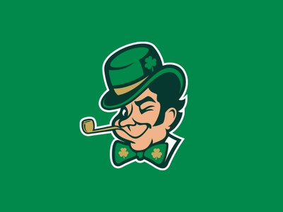 Boston Celtics boston celtics rebrand nba baskteball irish luck clover sports leprechaun st patricks green ireland logo typography face